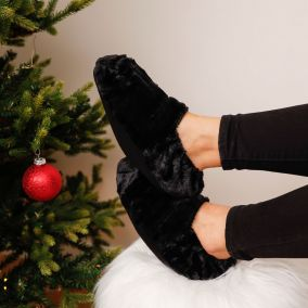 CHAUSSONS THERMO RELAXANTS NOIRS