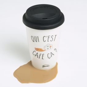 MUG TAKE AWAY QUI C EST CAFE CA