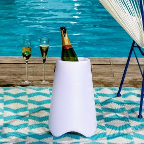 ENCEINTE BT OUTDOOR LED SEAU A CHAMPAGNE