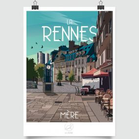 CITY POSTER MA RENNES MERE