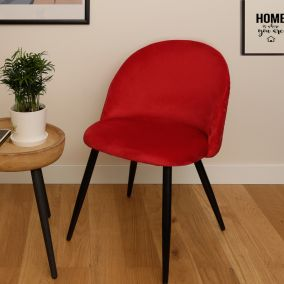 CHAISE VELOURS ABEILLE ROUGE