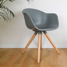 FAUTEUIL KENNETH GRIS