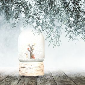 BOULE A NEIGE MUSICALE HIVER BOREAL