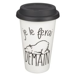 MUG TAKE AWAY JE LE FERAI DEMAIN