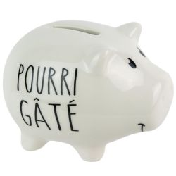 TIRELIRE COCHON POURRI GATE