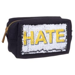 TROUSSE A MAQUILLAGE SEQUINS LOVE HATE