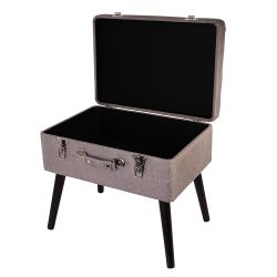 COFFRE VALISE GRIS CHINE