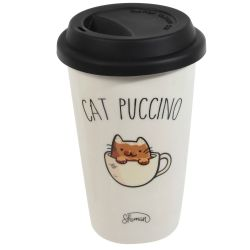 MUG TAKE AWAY CAT PUCCINO