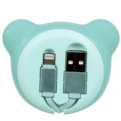 CABLE LIGHTNING RETRACTABLE OURS BLEU