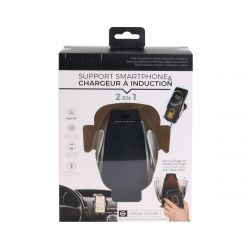 SUPPORT TEL VOITURE INFRAROUGE CHARGE INDUCTION