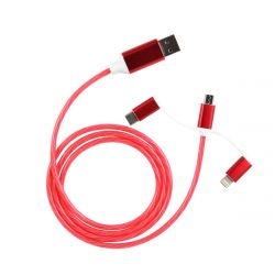 CABLE TRIPLE SORTIES LUMINEUX ROSE