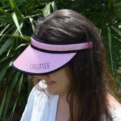 VISIERE ROSE PAILLETTE CULOTEE